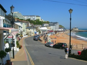 Sun, sea and sand - at Ventnor (I didn't have a picture of Skopelos).